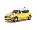Burago Mini Cooper S Couper Yellow 1/24