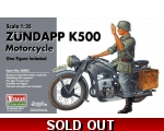 Vulcan Zündapp K500 Motorcycle with figure 1/35