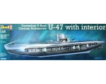 Revell German Submarine U-47 with Interior 1/125