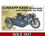 Vulcan WW2 German Zundapp K800 Motorcycle with S..