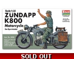 Vulcan WW2 German Zundapp K800 Motorcycle 1/35