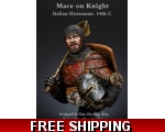 MJ Miniatures Mace on Knight Italian horseman, 1..