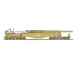 Hasegawa German Railway Gun K5E Leopold with Fig..