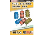 Hero Hobby FUEL & STEEL DRUM  SET WW2 US & ALLIE..