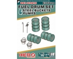 Hero Hobby WW2 German FUEL  DRUM  SET PUMP PIPES..