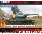 Rubicon Models T-34/85–Mid & Late War 1/56