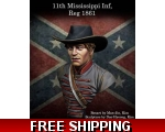 MJ Miniatures 11th Mississippi Inf. Regiment,186..