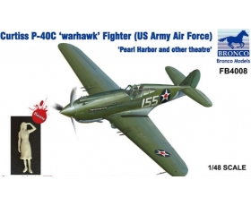Bronco Curtiss P-40C 'warhawk' Fighrter US Army Air Force 'Pearl Harbour and other theatre' 1/48