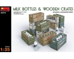 MiniArt Milk Bottles & Wooden Crates 1/35