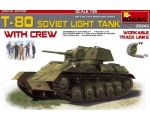 MiniArt  T-80 Soviet Light Tank w/crew 1/35