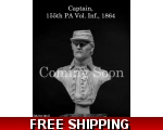 MJ Miniatures Captain 155th PA Vol. Inf., 1864 1..