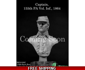 "MJ Miniatures Captain 155th PA Vol. Inf., 1864 1/16 ""Free Air Shipping"""