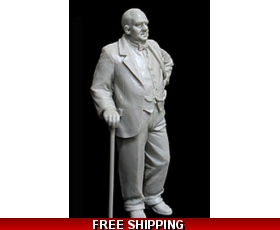 "Qing Yi Miniatures British Prime Minister Winston Churchill 1/30  ""Free Air Shipping"""