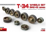 MiniArt   T-34 Wheels set 1942-43 series 1/35