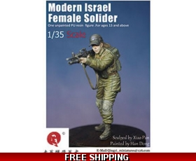 "Qing Yi  Modern Israel Female Solider 2 1/35  ""Free Air Shipping"""
