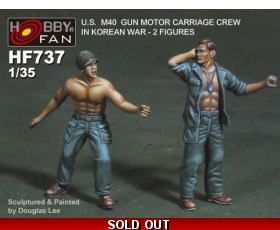 "Hobby Fan U.S M40 Gun Motor Carriage Crew in Korean War - 2 figures 1/35 ""Free Air Shipping"""