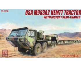 Modelcollect USA M983A2 HEMTT Tractor with M870A1 SEMI-TRAILER 1/72