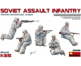 MiniArt Soviet Assault Infantry Winter Camouflage Cloaks 1/35