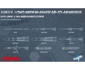Meng Model  U.S. Long Medium-Range Air-to-Air Missiles 1/48