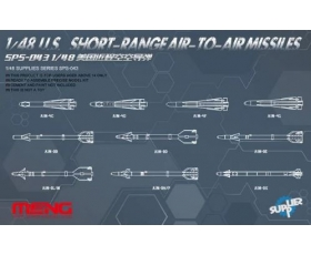 Meng Model U.S. Short-Range Air-to-Air Missiles 1/48