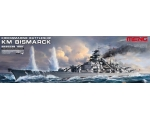 Meng Model German Navy Battleship Bismarck 1/700