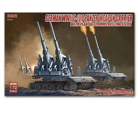 Modelcollect German WWII E-100 Panzer Weapon Carrier w/Flak 40 128mm Zwillingsflak 1/72