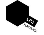Tamiya  Lacquer Paint 10ml FALT BLACK LP-3
