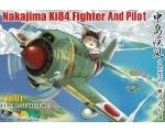 T-MODEL NAKAJIMA KI84 FIGHTER AND PILOT CUTE PLANE