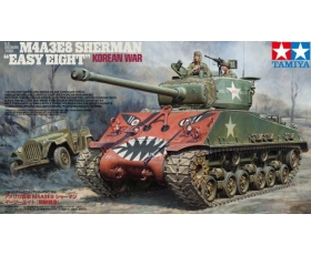 Tamiya M4A3E8 Easy Eight Korean War w/GAZ-67B field car 1/35