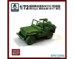 S Model Willys MB & M1917 MG 1/72 Limited Edition