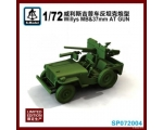 S Model Willys MB & 37mm AT Gun 1/72 Limited Edi..