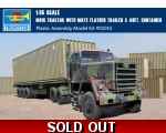 Trumpeter M915 Tractor with M872 Flatbed trailer..