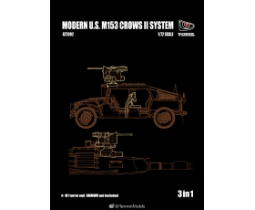 T-Model U.S. M153 CROWS II SYSTEM 3 set in 1 1/72