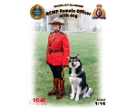 ICM RCMP Female Officer with dog 1/16