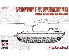 Modelcollect German WWII E-100 super heavy tank with 128mm flak 40 zwilling gun 1/72