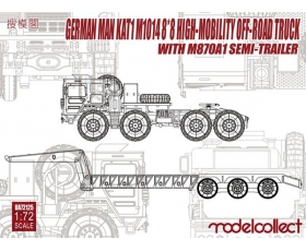 Modelcollect German German MAN KAT1M1014 8*8 HIGH-Mobility off-road truck with M870A1 semi-trailer 1/72
