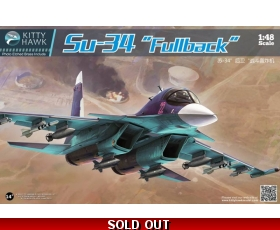 "Kitty Hawk Su-34 ""Fullback"" 1/48 with FREE RESIN FIGURES"