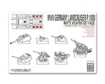 Modelcollect WWII Germany landcruiser p.1000 rat..