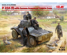 ICM Panzerspahwagen P 204 f, with German Armoured Vehicle Crew 1/35