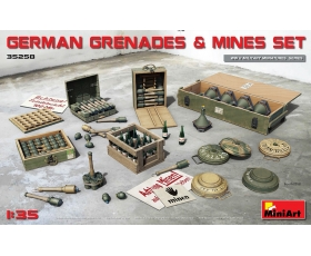 MiniArt GERMAN GRENADES & MINES SET 1/35
