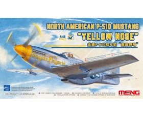 Meng Model North American P-51D Mustang Yellow Nose 1/48