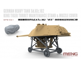 MENG King Tiger Turret Maintenance Stand & Muzzle Cover 1/35