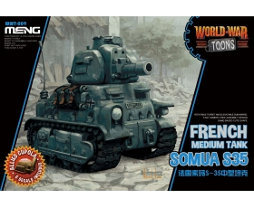 Meng Somua S-35 French Medium Tank WorldWar Toons Cute Tank