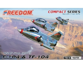 Freedom F-104 & TF-104 USAF Starfighter Compact Series Includes 2 kits
