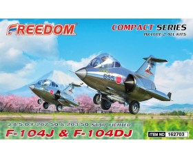 Freedom F-104J & F-104DJ J.A.S.D.F 207 SQ & 203 SQ Star Fighter Includes 2 kits