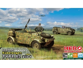 Hero Hobby German PKW Typ k1 Kübelwagen Type 82 2 in 1 + MG34 1/35
