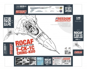 "Freedom ROCAF Indigenous Defense Fighter F-CK-1 C ""Ching-kuo"" Single Seat Fighter white Box Version 1/48"