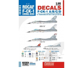 Freedom F-CK-1 CHING-KUO A/B/C/D Decal Print by Cartograf 1/48