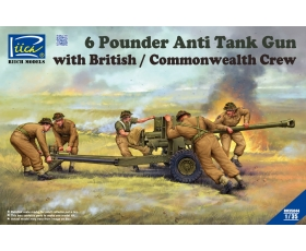 Riich Model 6 Pounder Anti-Tank Gun with British/Commonwealth Crew 1/35