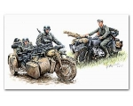 Master Box German Motorcycle Troops On The Move ..